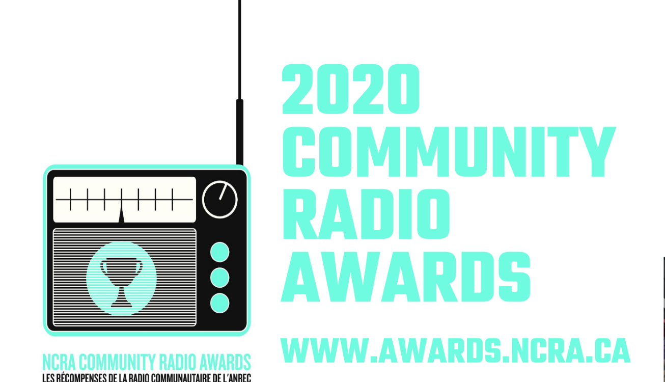 ncra awards logo with image of a radio
